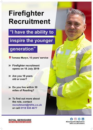 Royal Berkshire Fire And Rescue Service Wholetime Firefighter Recruitment Compton Parish Council Compton Newbury
